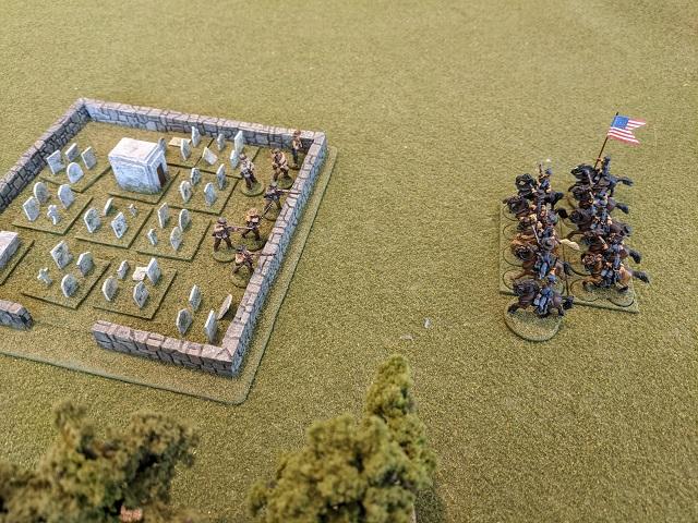 ACW SP2 skirmishers facing cavalry