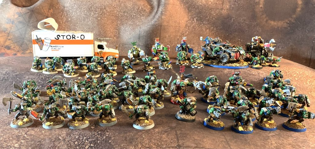 A wicked big pile of Orks, kehd