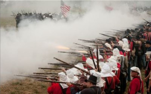 ACW volley fire