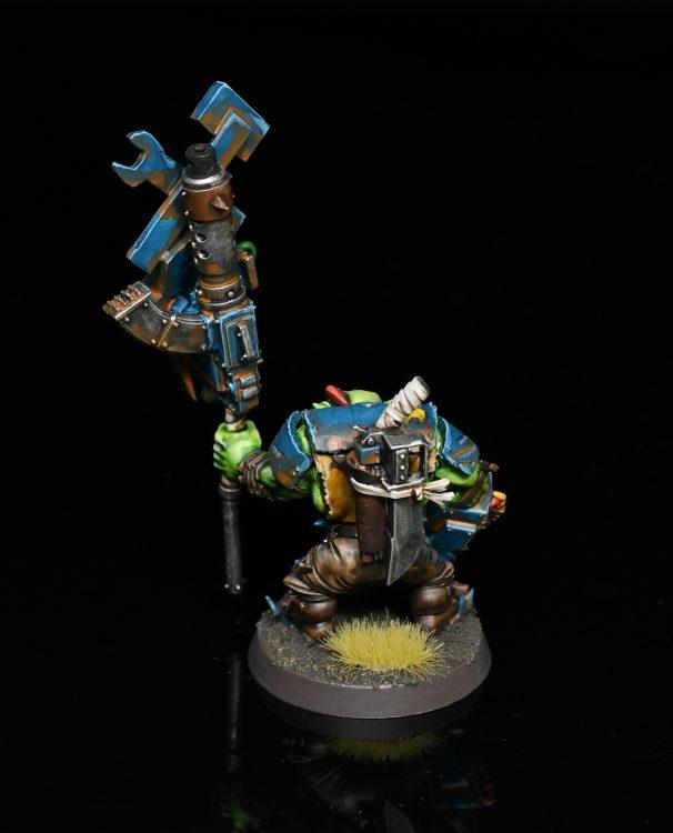 Ork Nob With Waaagh! Banner. Credit: Rockfish