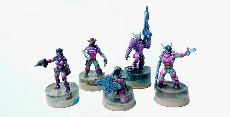 A selection of VIRD Troopers
