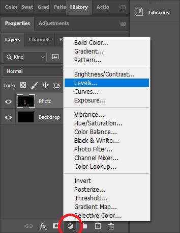 Photogrammetry - Add Adjustment Layer Level