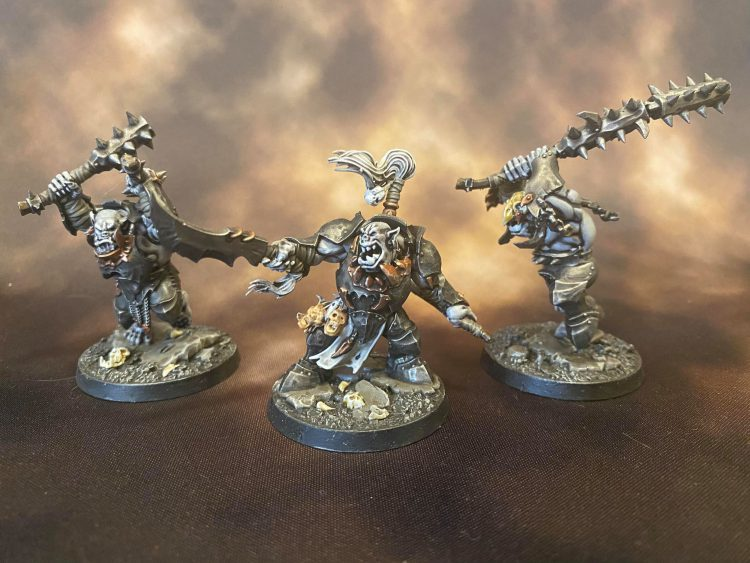 Morgok's Krusha's from Warhammer Underworlds. Credit: Magos Sockbert