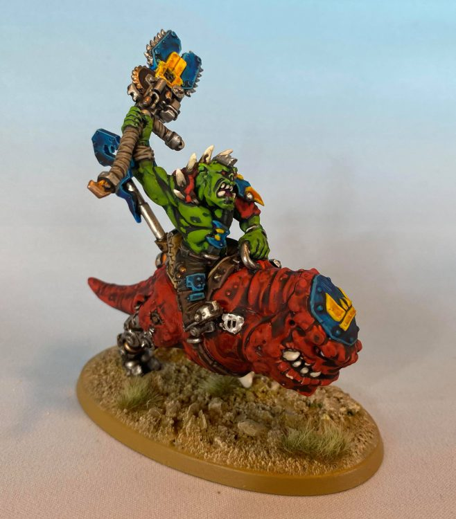 Ork Nob on Smasha Squig. Credit: Magos Sockbert