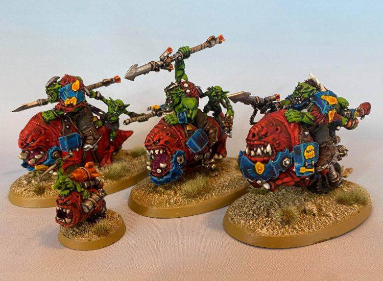 Ork Squighog Boyz. Credit: Magos Sockbert