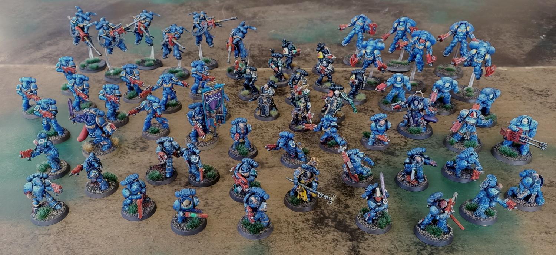 Photo of an Ultramarines army