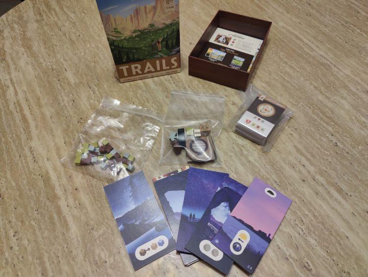 Trails box contents.
